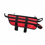 K9 TACTICAL VEST/RED WITH BLACK TRIM /LARGE