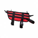 K9 TACTICAL VEST/RED WITH BLACK TRIM/MEDIUM