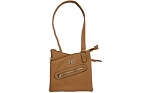 BULLDOG CROSS BODY PURSE W/HLSTR TAN
