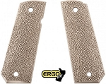 ERGO GRIP XTR 1911 GRIP TAPERED BOTTOM HARD RUBBER - FDE