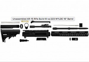 (.223) UNASSEMBLED AR-15 RIFLE BUILD KIT (NO-LPK)