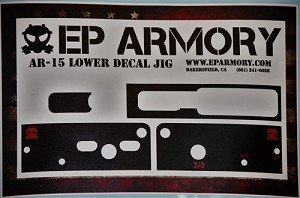E P ARMORY ADAPTABLE AR15 STICKER JIG