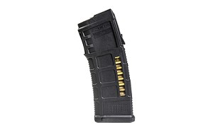Magpul Industries, PMAG 30 AUS M3 Magazine, 223 Rem/556NATO, 10/30Rd, Fits Steyr Aug Rifles, with Window, Black Finish