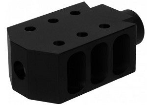 "5/8""x24 Thread 50 CAL Style Muzzle Brake/Aluminum (.308)"