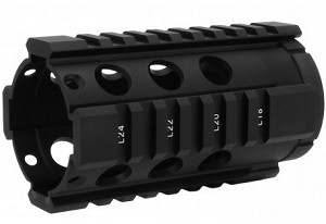 "Free Float Hand Guard 4"" QUAD RAIL"